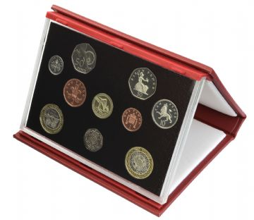 2004 Proof set red Leather deluxe